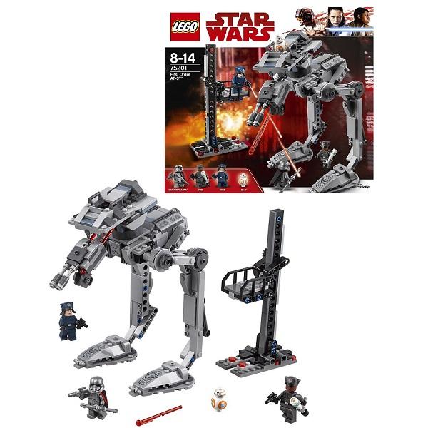 Купить LEGO Star Wars 75201 Конструктор ЛЕГО Звездные Войны Вездеход AT-ST Первого Ордена, Конструкторы LEGO