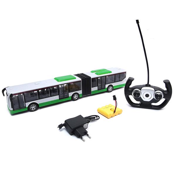 Купить HK Industries 666676AG Автобус (акк+USB) зеленый, Машинка HK Industries
