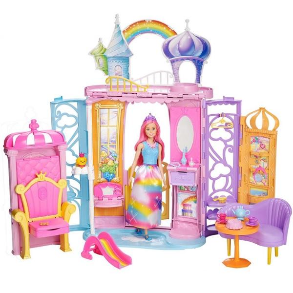 Mattel Barbie FTV98 Барби Переносной радужный дворец - Куклы и аксессуары