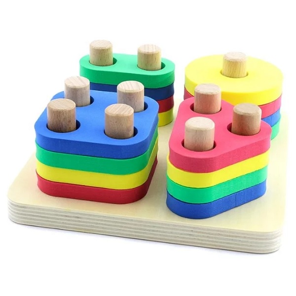 Купить Игрушки из дерева D020 Логический квадрат, Деревянные игрушки Игрушки из дерева