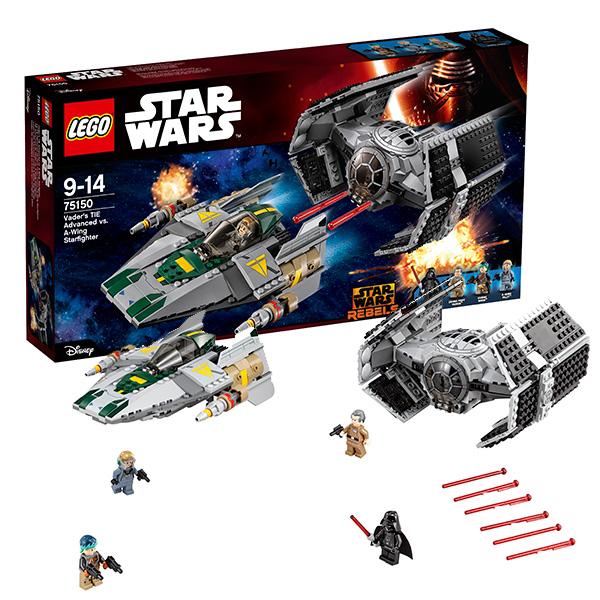 Lego Star Wars 75150 Конструктор Лего Звездные Войны Усовершенствованный истребитель Дарта Вейдера, арт:142360 - Звездные войны, Конструкторы LEGO