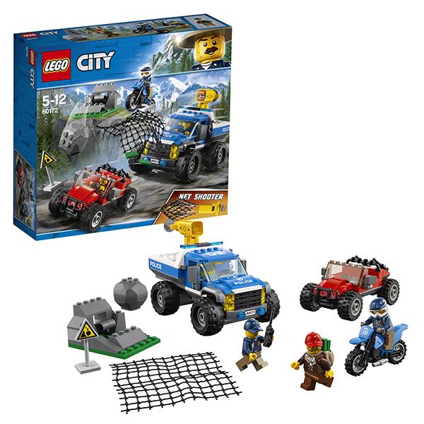 Купить Lego City 60172 Лего Город Погоня по грунтовой дороге, Конструкторы LEGO