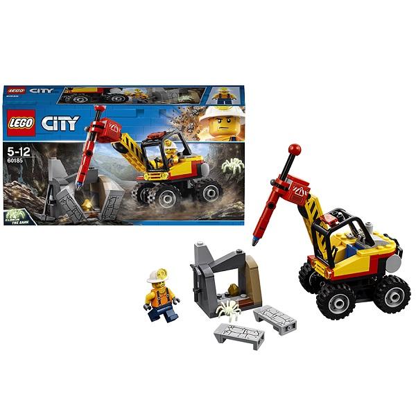 Купить LEGO City 60185 Конструктор ЛЕГО Город Трактор для горных работ, Конструкторы LEGO