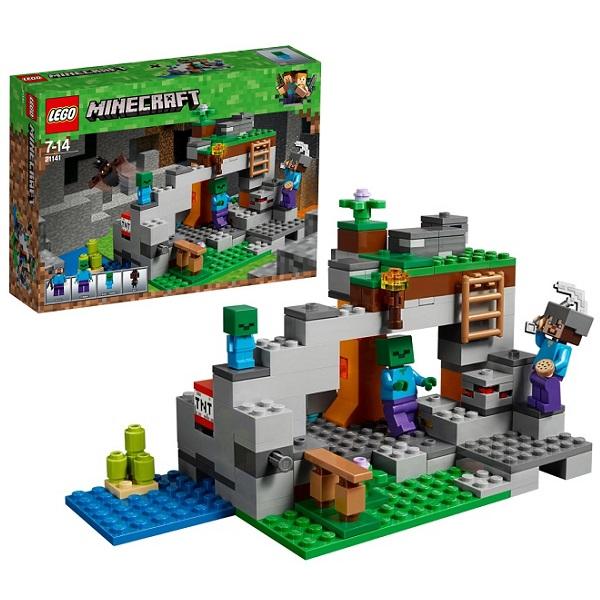 Купить LEGO Minecraft 21141 Конструктор ЛЕГО Майнкрафт Пещера зомби, Конструктор LEGO