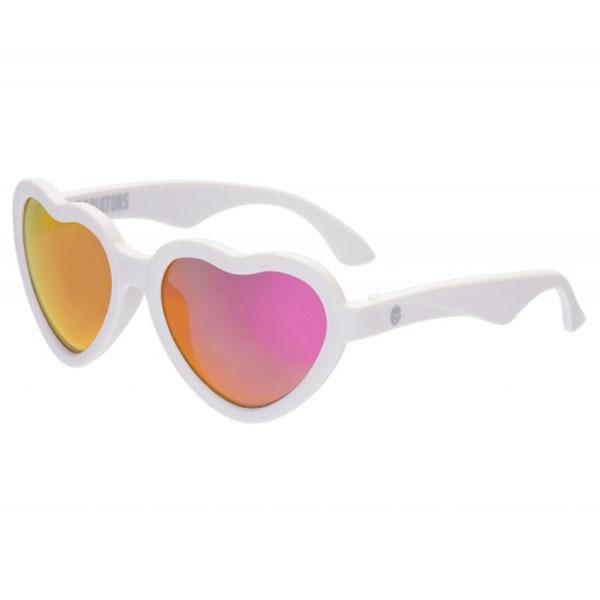 Купить Babiators LTD-024 Солнцезащитные очки Hearts Влюбляшки, белые.Classic (3-5), Солнцезащитные очки Babiators