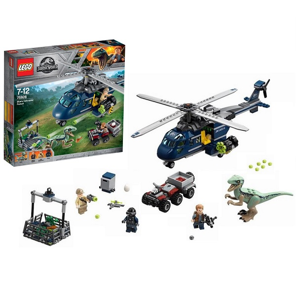 Купить Lego Jurassic World 75928 Конструктор Лего Мир Юрского Периода Погоня за Блю на вертолёте, Конструкторы LEGO