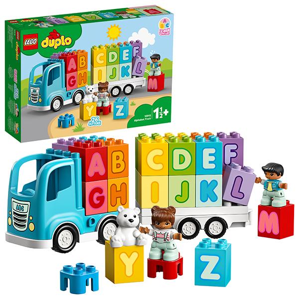 Купить LEGO DUPLO 10915 Конструктор ЛЕГО ДУПЛО Грузовик Алфавит, Конструкторы LEGO
