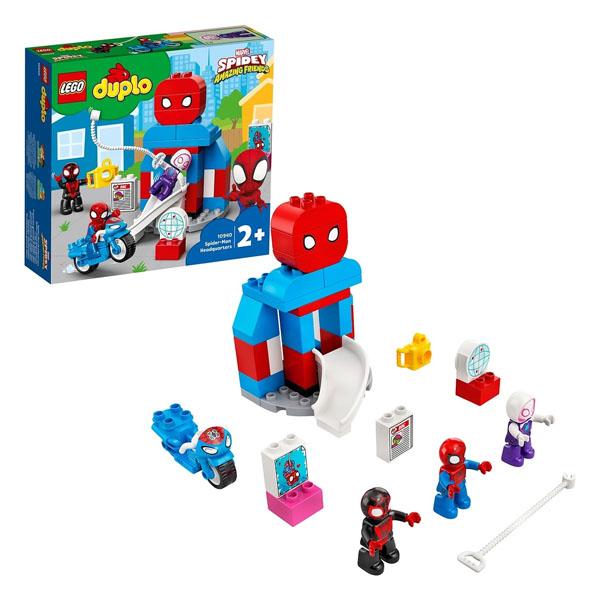 Купить LEGO DUPLO 10940 Конструктор ЛЕГО ДУПЛО Super Heroes Штаб-квартира Человека-паука, Конструктор LEGO
