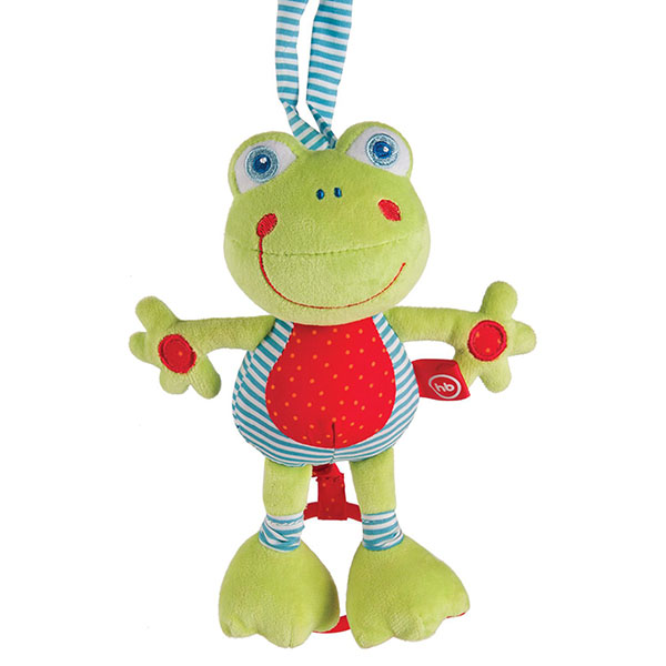 """Развивающие игрушки для малышей Happy Baby 330361 Подвесная музыкальная игрушка-растяжка """"Лягушка"""" фото"""