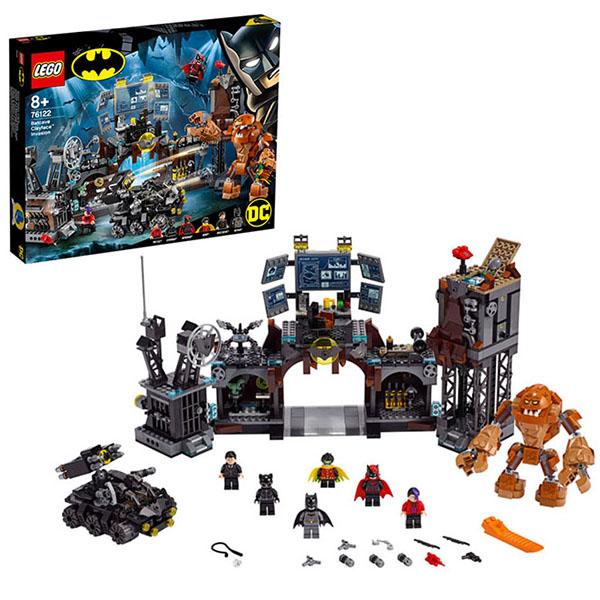 Купить LEGO Super Heroes 76122 Конструктор ЛЕГО Супер Герои Вторжение Глиноликого в бэт-пещеру, Конструкторы LEGO