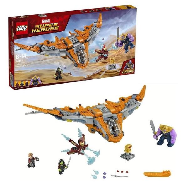 Купить LEGO Super Heroes 76107 Конструктор ЛЕГО Супер Герои Танос: последняя битва, Конструкторы LEGO