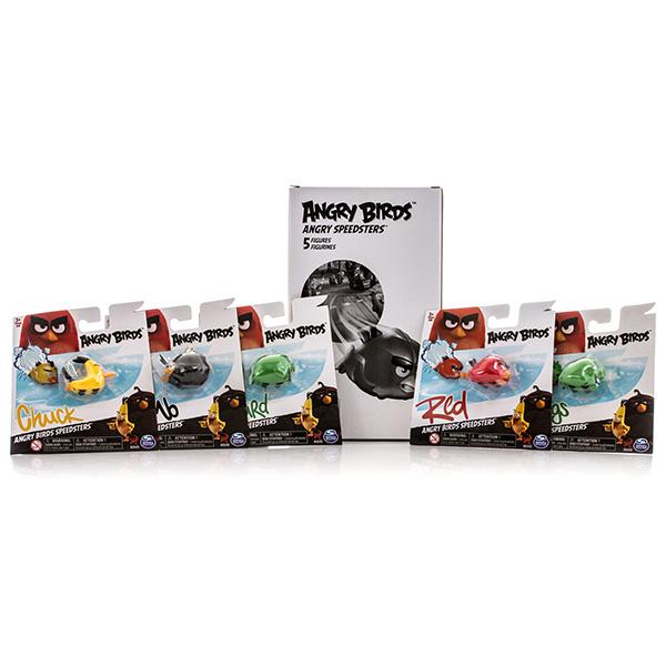 Angry Birds 90508 Энгри Бердс Набор из 5 птичек на колесах (в ассортименте)
