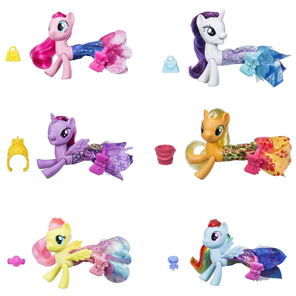 Купить Hasbro My Little Pony C0681 Май Литл Пони Мерцание Пони в волшебных платьях, Игровой набор Hasbro My Little Pony