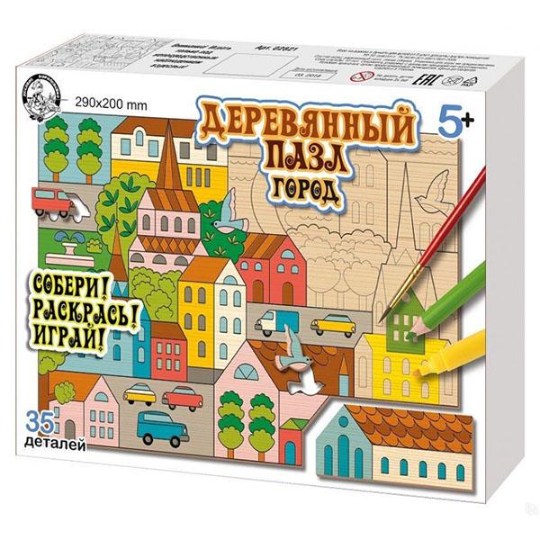 Купить Десятое королевство TD02821 Пазл деревянный Город , 35 элементов, Пазлы Десятое Королевство