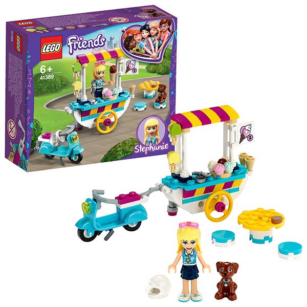Купить LEGO Friends 41389 Конструктор ЛЕГО Подружки Тележка с мороженым, Конструкторы LEGO