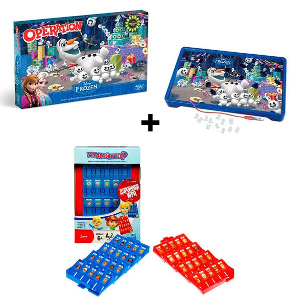 Купить Hasbro Other Games B4504N Операция Холодное сердце + Угадай кто? Дорожная игра, Настольная игра Hasbro Other Games