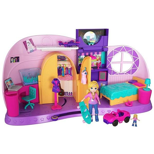 Купить Mattel Polly Pocket FRY98 Комната Полли, Игровые наборы и фигурки для детей Mattel Polly Pocket