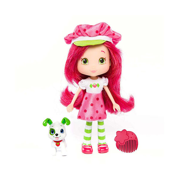 Купить Strawberry Shortcake 12231 Шарлотта Земляничка Кукла 15 см с питомцем, Земляничка, Кукла с питомцем Strawberry Shortcake
