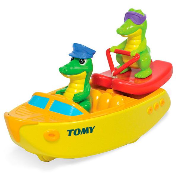 TOMY BathToys T72358 Томи Игрушки для ванны Крокодил на водных лыжах