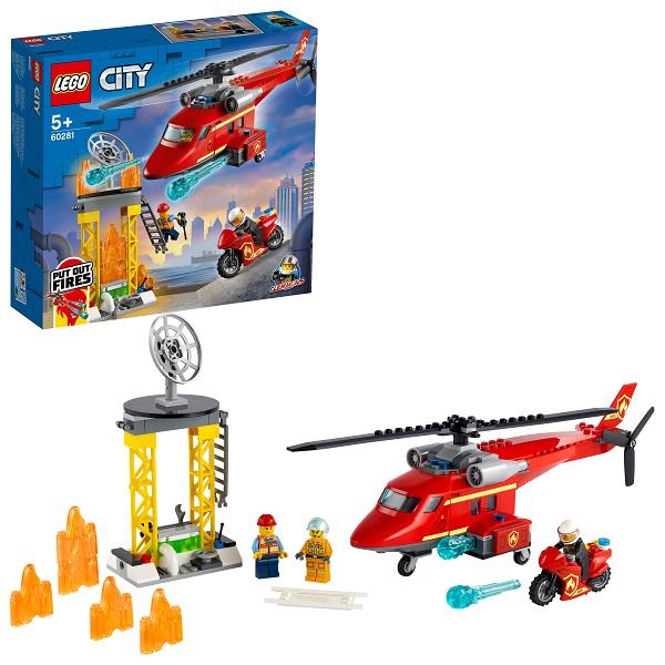 LEGO City 60281 Конструктор ЛЕГО Город Спасательный пожарный вертолёт по цене 2 399