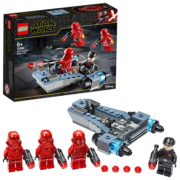 Купить LEGO Star Wars 75266 Конструктор ЛЕГО Звездные войны Боевой набор: штурмовики ситхов, Конструкторы LEGO