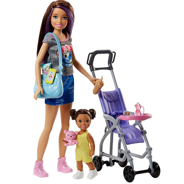 """Mattel Barbie FJB00 Барби Набор """"Няня"""", Куклы и пупсы Mattel Barbie  - купить со скидкой"""