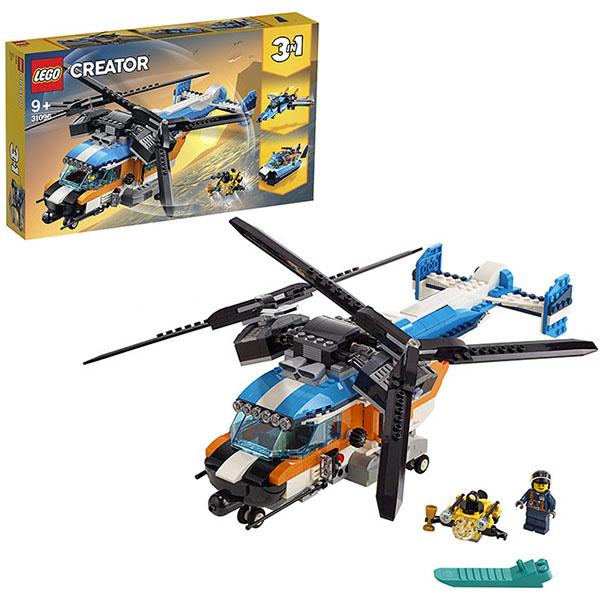 Купить LEGO Creator 31096 Конструктор ЛЕГО Криэйтор Двухроторный вертолёт, Конструктор LEGO