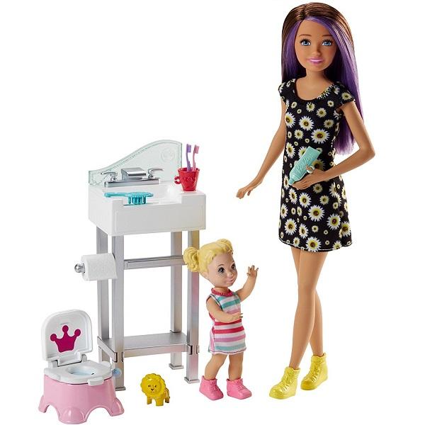 """Mattel Barbie FJB01 Барби Набор """"Няня"""", Куклы и пупсы Mattel Barbie  - купить со скидкой"""