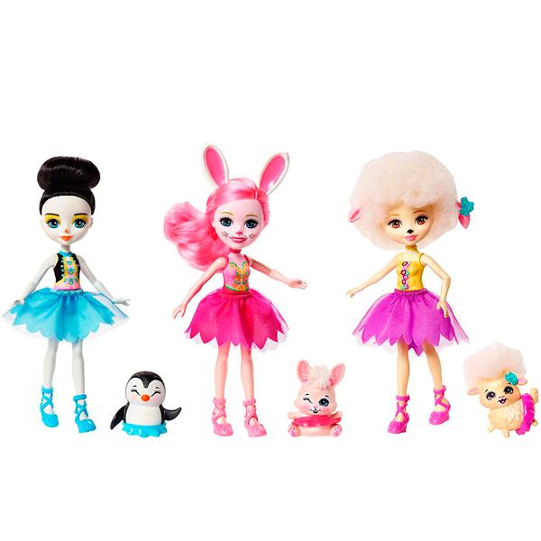 Mattel Enchantimals FRH55 Набор из трех кукол Волшебные балерины - Куклы и аксессуары