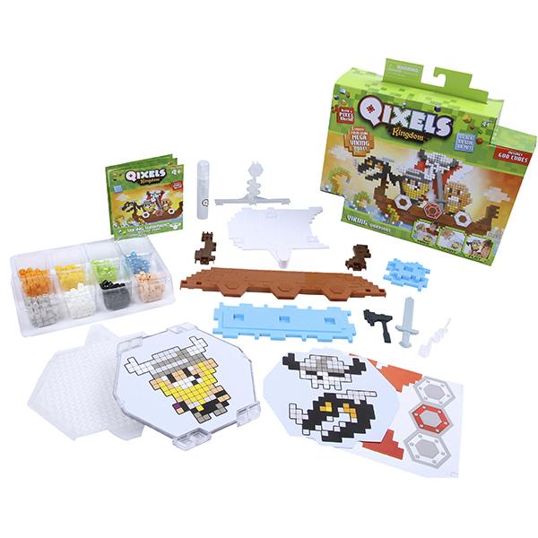 Купить Qixels 87036 Квикселс Набор для творчества Королевство Викинги , Набор для творчества Qixels