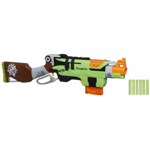 Купить Hasbro Nerf A6563 Нерф Бластер Зомби Страйк Слингфайр, Бластер Hasbro Nerf