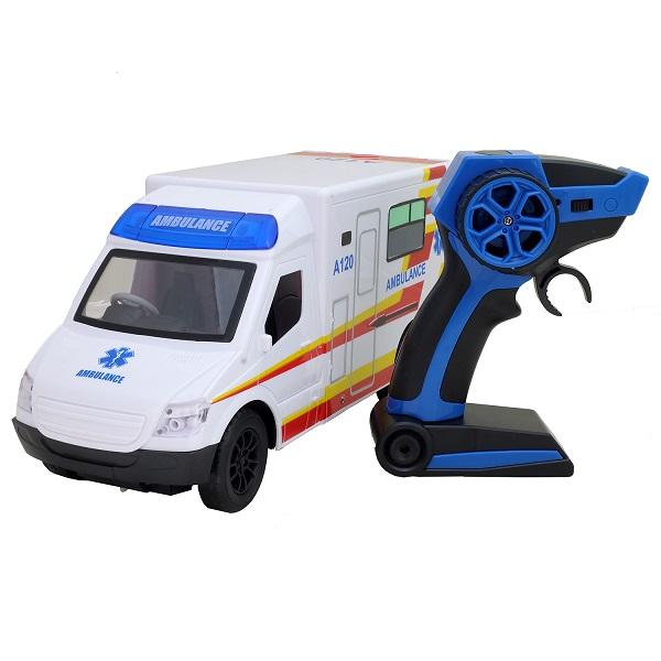 Радиоуправляемая машинка HK Industries HK Industries 666-770A Машина скорой помощи, р/у по цене 2 349