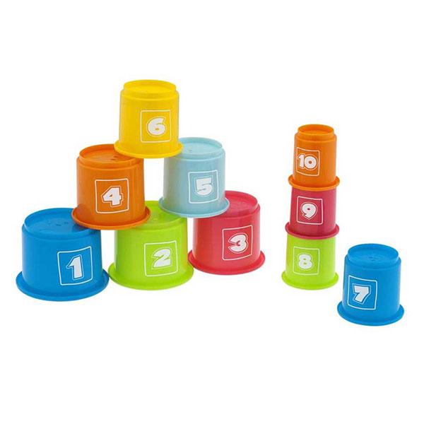 Купить CHICCO TOYS 7511AR Игрушка Занимательная пирамидка с цифрами , Развивающие игрушки для малышей CHICCO TOYS