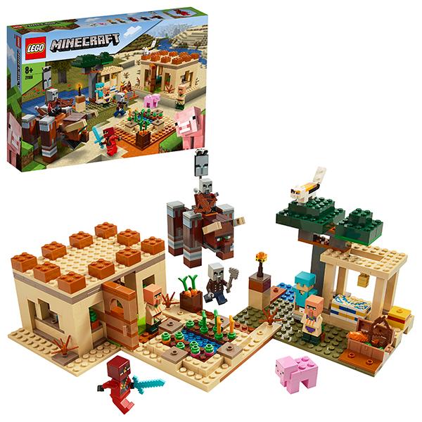 Купить LEGO Minecraft 21160 Конструктор ЛЕГО Майнкрафт Патруль разбойников, Конструкторы LEGO
