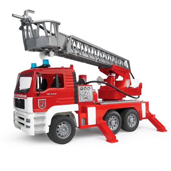 Купить Bruder 02-771G Пожарная машина MAN с лестницей и помпой, Игрушечные машинки и техника Bruder