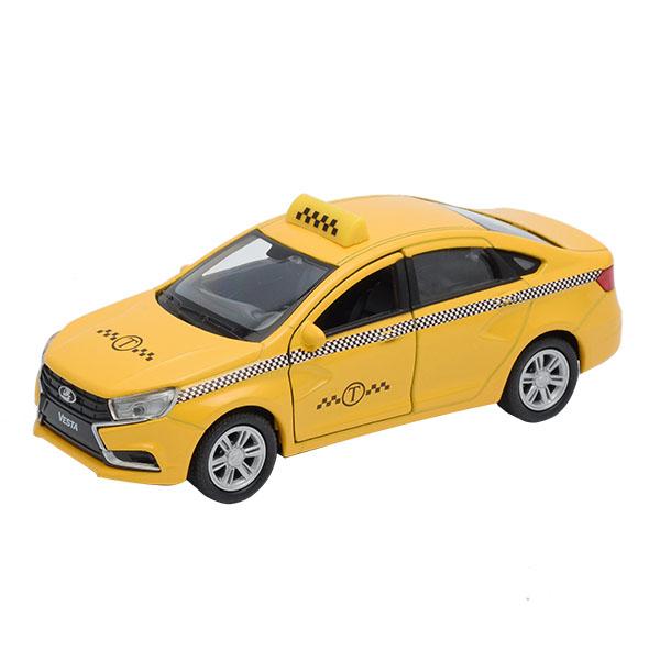 Купить Welly 43727TI Велли Модель машины 1:34-39 LADA Vesta такси, Машинка Welly