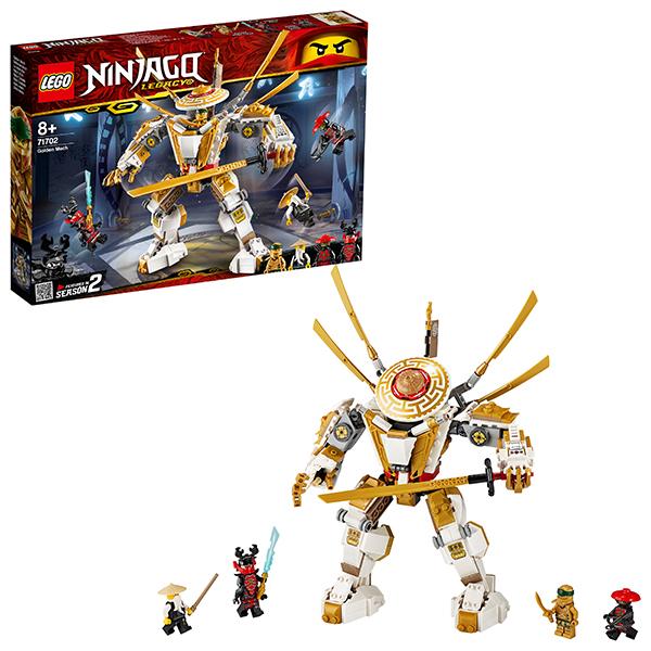 Купить LEGO Ninjago 71702 Конструктор ЛЕГО Ниндзяго Золотой робот, Конструкторы LEGO