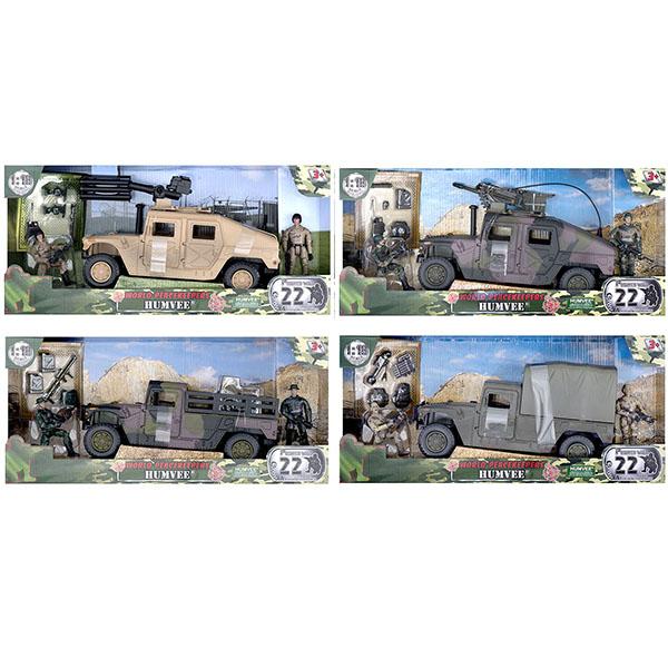 """Игровые наборы и фигурки для детей World Peacekeepers MC77023 Игровой набор """"Humvee"""" 2 фигурки, 1:18 фото"""