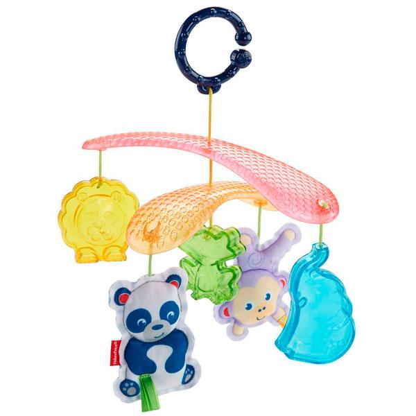 Mattel Fisher-Price DYW54 Фишер Прайс Мобиль для прогулок Веселые животные, арт:153365 - Мобили и подвески, Игрушки для малышей