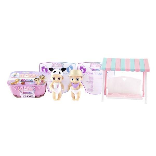 Куклы и пупсы Zapf Creation Zapf Creation Baby Secrets 930-328 Бэби Секрет Набор с садовыми качелями