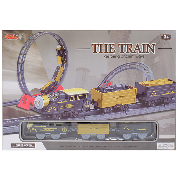 Наборы игрушечных железных дорог, локомотивы, вагоны HK Industries HK Industries 4118 Набор Железная дорога (мертвая петля, поворот с подъемом) по цене 1 899
