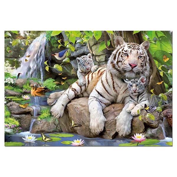 Купить Educa 14808 Пазл 1000 деталей Белые Бенгальские Тигры