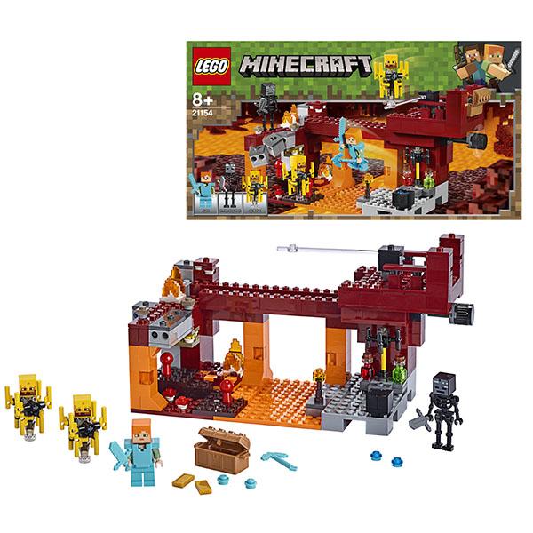 Купить LEGO Minecraft 21154 Конструктор ЛЕГО Майнкрафт Мост ифрита, Конструкторы LEGO