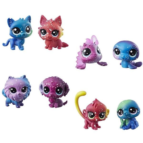 Купить Hasbro Littlest Pet Shop E2128 Литлс Пет Шоп 2 космических пета (в ассортименте), Игровые наборы и фигурки для детей Hasbro Littlest Pet Shop
