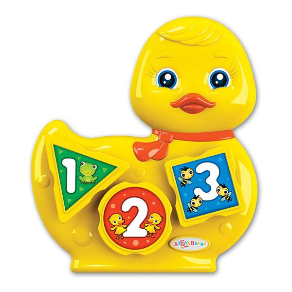 Купить Азбукварик 2572 Музыкальный сортёр Уточка , Музыкальная игрушка Азбукварик