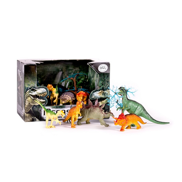 Megasaurs SV10690 Мегазавры Игровой набор динозавров (5 дино + дерево) (в ассортименте) - Игровые наборы