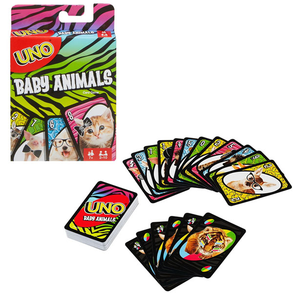 Купить Mattel Games FLK78 УНО Маленькие животные , Настольные игры Mattel Games