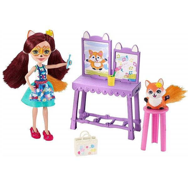 Купить Mattel Enchantimals GBX03 Кукла со зверушкой и тематическим набором, Игровые наборы и фигурки для детей Mattel Enchantimals