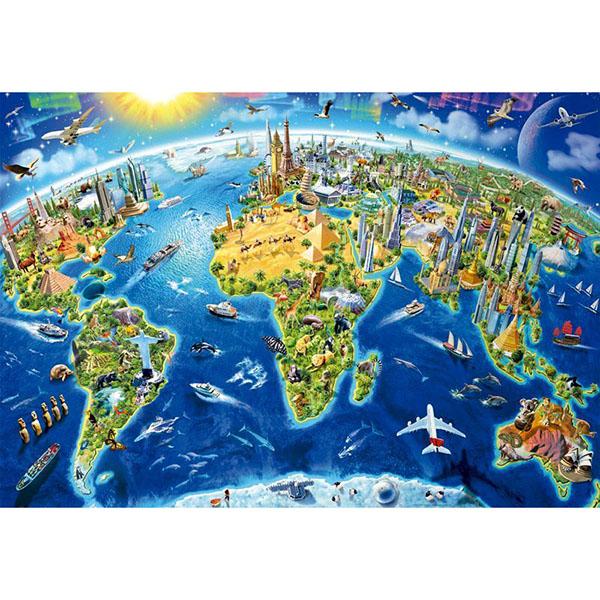 Купить Educa 17129 Пазл 2000 деталей Достопримечательности мира , Пазлы Educa