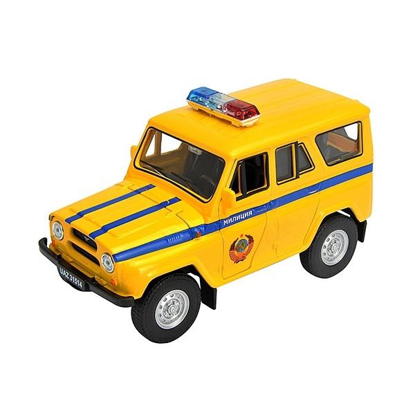 Купить Welly 42380RT Велли Модель машины 1:34-39 УАЗ 31514 Милиция, Машинка инерционная Welly